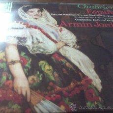 Discos de vinilo: E. CHABRIER./ ESPAÑA.- DANZA ESLAVA.- SUITE PASTORAL- GWENDOLINE.- DIR.- ARMIN JORDAN . Lote 24269406