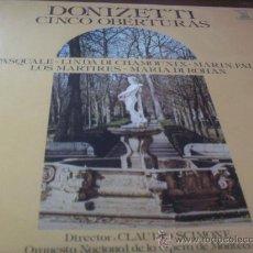 Discos de vinilo: GAETANO DONIZETTI./ CINCO OBERTURAS.- DIR.- CLAUDIO SCIMONE . Lote 24270075