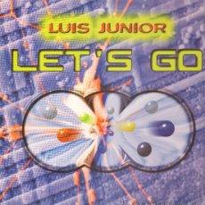 Discos de vinilo: LUIS JUNIOR - LET'S GO (3 VERSIONES) / MY HOUSE - MAXISINGLE 1996 - COMO NUEVO. Lote 24312975