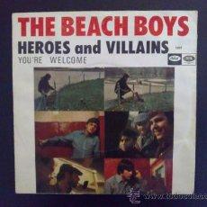 Discos de vinilo: THE BEACH BOYS - HEROES AND VILLAINS, HÉROES Y VILLANOS - SINGLE ORIGINAL ESPAÑOL. Lote 27394598