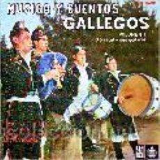 Discos de vinilo: MUSICA Y CUENTOS GALLEGOS VOL1 OXESTAL Y SUS GAITEROS SINGLE EP. Lote 27583143