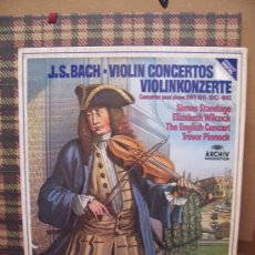 Discos de vinilo: JOHANN SEBASTIAN BACH - FONOGRAM 1983 - CONCIERTOS PARA VILOÍN. Lote 24316814
