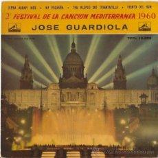 Discos de vinilo: EP JOSE GUARDIOLA - AGAPI MOU-MI PEQUEÑA. Lote 24330090