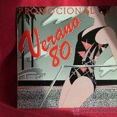 Discos de vinilo: VERANO 80 - PROMOCIONAL CBS -. Lote 24362867