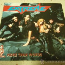 Discos de vinilo: EXTREME ( MORE HAN WORDS(REMIX) - NICE PLACE TO VISIT ) 1991-GERMANY SINGLE45 A&M RECORDS. Lote 24373270