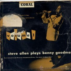 Discos de vinilo: STEVE ALLEN PLAYS BENNY GOODMAN / LET'S DANCE / SOMETIMES I'M HAPPY + 2 (EP). Lote 24375668