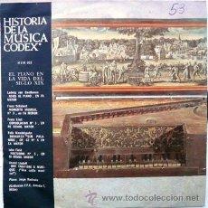 Discos de vinilo: HISTORIA DE LA MUSICA CODEX BEETHOVEN SCHUBERT LISZT MENDELSSOHN SINGLE AÑO 1966 10 DISCOS. Lote 24398134