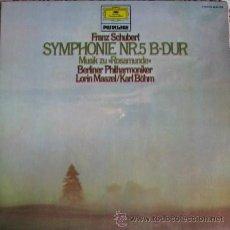 Discos de vinilo: FRANZ SCHUBERT. SINFONIA Nº 5.1973. ENVIO GRATIS¡¡¡. Lote 24412090