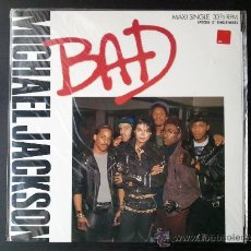 Discos de vinilo: MICHAEL JACKSON - BAD - MAXI SINGLE - SPECIAL 12 SINGLE MIXES - MJJ - 1987. Lote 57306175