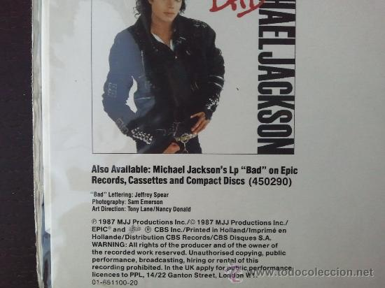 Discos de vinilo: MICHAEL JACKSON - BAD - MAXI SINGLE - SPECIAL 12 SINGLE MIXES - MJJ - 1987 - Foto 4 - 57306175