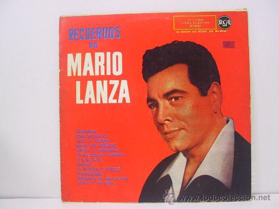 MARIO LANZA - RECUERDOS DE ... - RCA 1959 (Música - Discos - LP Vinilo - Solistas Españoles de los 50 y 60)