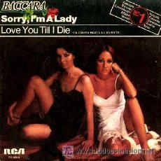 Discos de vinilo: BACCARA-SORRY,I´M A LADY ESPAÑA. Lote 24443560