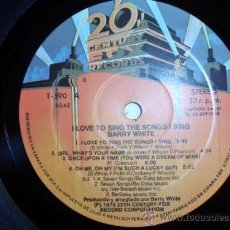 Discos de vinilo: DISCO LP DE VINILO DE BARRY WHITE- I LOVE TO SING THE SONGS I SING- 1979-T-590 FABRICADO POR SONIC, . Lote 27441217