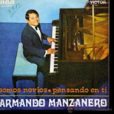 Discos de vinilo: ARMANDO MANZANEDO - SOMOS NOVIOS / PENSANDO EN TI - SINGLE 1968. Lote 24485896