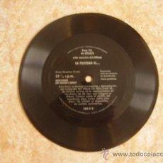 Discos de vinilo: SINGLE FLEXI DISC LA FELICIDAD ES... (1972) SELECCIONES DEL READER´S DIGEST. BUEN ESTADO. Lote 27261101
