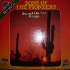 Discos de vinilo: SONS OF THE PIONEERS - SUNSET ON THE RANGE - DISCO DOBLE. Lote 27447478
