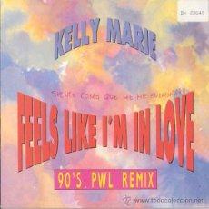 Disques de vinyle: KELLY MARIE - FEELS LIKE I'M IN LOVE / MY HEART SURRENDERS - SINGLE ESPAÑOL DE 1991. Lote 24490756