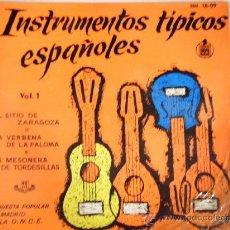 Discos de vinilo: INSTRUMENTOS TIPICOS ESPAÑOLES, VOL 1. Lote 27319669