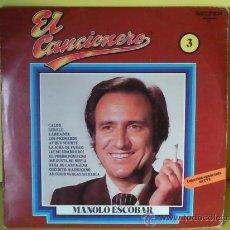 Discos de vinilo: DISCO DE VINILO LP MANOLO ESCOBAR-EL CANCIONERO- 1979. Lote 26115745