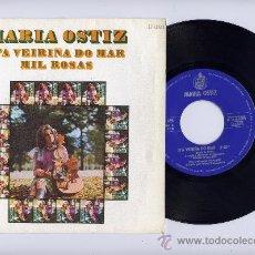 Discos de vinilo: MARIA OSTIZ. SINGLE 45 RPM. N´A VERIÑA DO MAR. CANTANDO EN GALLEGO.HISPAVOX 1970. Lote 27415896