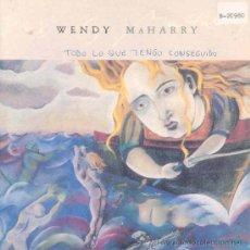 Discos de vinilo: WENDY MAHARRY - ALL THAT I'VE GOT - SINGLE PROMOCIONAL ESPAÑOL DE 1990. Lote 24563068