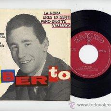 Discos de vinilo: ALBERTO. EP 45 RPM. LA HORA+3. FESTIVAL BENIDORM 1963. ZAFIRO 1963. Lote 26087413