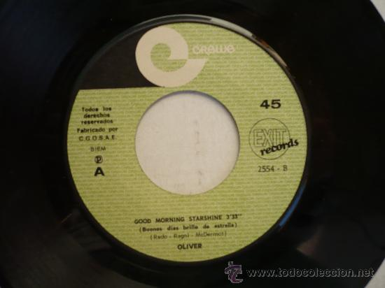 Discos de vinilo: LIVER GOOD MORNING STARSHINE GREWE EP ESPAÑOL - Foto 2 - 24614905
