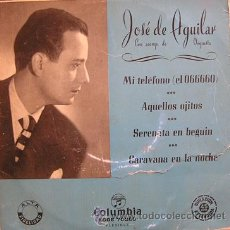 Discos de vinilo: FLAMENCO COPLA. JOSE DE AGUILAR. MI TELEFONO. COLUMBIA. Lote 27459899