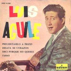 Discos de vinilo: LUIS AGUILE - PREGUNTASELO A FRIZZI - EP RARO DE VINILO DE 1964. Lote 27505342