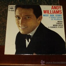 Discos de vinilo: ANDY WILLIAMS EP WEST SIDE STORY+3. Lote 24615987