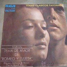 Discos de vinilo: ORQUESTA SINFONICA DE BOSTON - SINGLE VINILO RCA PROMOCIONAL 1972 - TEMA DE AMOR DE ROMEO Y JULIETA. Lote 24618242