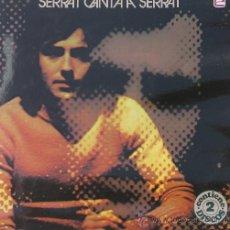 Discos de vinilo: SERRAT CANTA A SERRAT SERRAT, JOAN MANUEL 2 LP - ZAFIRO 1978. Lote 24893305