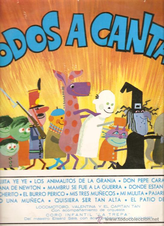 LP TODOS A CANTAR : LOCOMOTORO, VALENTINA, EL CAPITAN TAN & LA TREPA (Música - Discos - LPs Vinilo - Música Infantil)