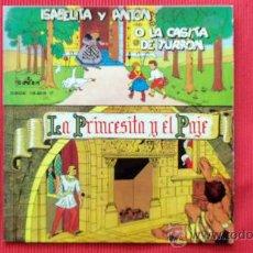 Discos de vinil: SINGLE - CUENTOS INFANTILES - ISABLEITA Y ANTON O LA CASITA DE TURRON - LA PRINCESITA Y EL PAJE - AÑ. Lote 24664585