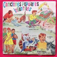 Discos de vinil: SINGLE - CANCIONES INFANTILES - 6 CANCIONES AÑOS 60. Lote 24664846