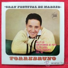 Discos de vinilo: GRAN FESTIVAL DE MADRID 1963 - TORREBRUNO. Lote 24674486