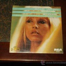 Discos de vinilo: SYLVIE VARTAN SINGLE EL RITMO DE LA LLUVIA EDICION RARA. Lote 27148160