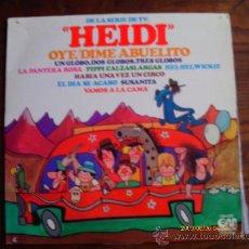 Discos de vinilo: HEIDI Y OTRAS SERIES DE TELEVISION : VAMOS A LA CAMA , HABIA UNA VEZ UN CIRCO, PIPI CALZAS LARGAS . Lote 27515970