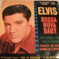 Discos de vinilo: ELVIS / BOSSA NOVA BABY - VINO, DINERO Y AMOR / EDICIÓN FANCESA. Lote 26319031