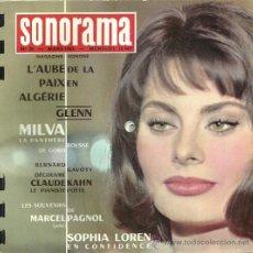 Discos de vinilo: SOFIA LOREN / MILVA DISCO FLEXI REVISTA SONORAMA EDITADO EN FRANCIA.. Lote 24746656