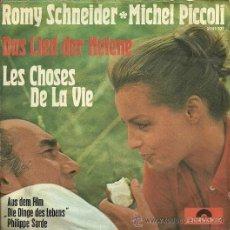 Discos de vinilo: ROMY SCHNEIDER / MICHEL PICCOLI SINGLE SELLO POLYDOR EDITADO EN ALEMANIA DEL FILM LAS COSAS DE LA ... Lote 24746679