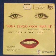 Discos de vinilo: ORQUESTA SPENCER-HAGEN ( MELODIAS DE HARRY WARREN). Lote 24755565