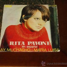 Discos de vinilo: RITA PAVONE SINGLE AY MUCHACHO CANTA EN ESPAÑOL. Lote 24772651