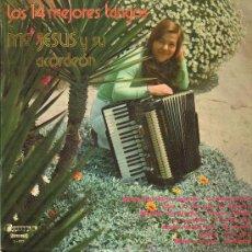 Discos de vinilo: MARÍA JESÚS Y SU ACORDEÓN - LOS 14 MEJORES TANGOS - LP 1975. Lote 24781284