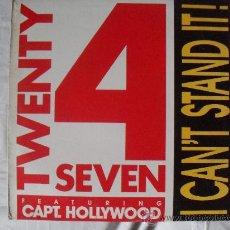 Discos de vinilo: TWENTY 4 SEVEN, MAXI SINGLE 45 RPM I CAN`T STAND IT!. Lote 24781779