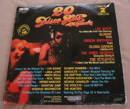 20 DISCO HITS ORIGINALES, 2 LP. (Música - Discos - LP Vinilo - Disco y Dance)