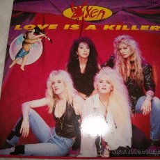 Discos de vinilo: VIXEN / LOVE IS A KILLER - STREETS IN PARADISE - 1990 USA. Lote 26455088