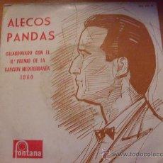 Discos de vinilo: ALECOS PANDAS ( CANCION MEDITERRANEA 1960) 45 RPM ESPAÑA (F1). Lote 24883956