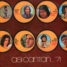 Discos de vinilo: ASI CANTAN LP 1971 COLUMBIA CPS 9126 GALAXIA LOS BRAVOS SALVADOR TAVORA JULIO IGLESIAS ROSY ARMEN. Lote 24843925
