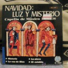Discos de vinilo: CAPELLA DE MUSICA BURES NAVIDAD LUZ Y MISTERIO. Lote 24874228